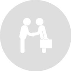 Round illustrative logo