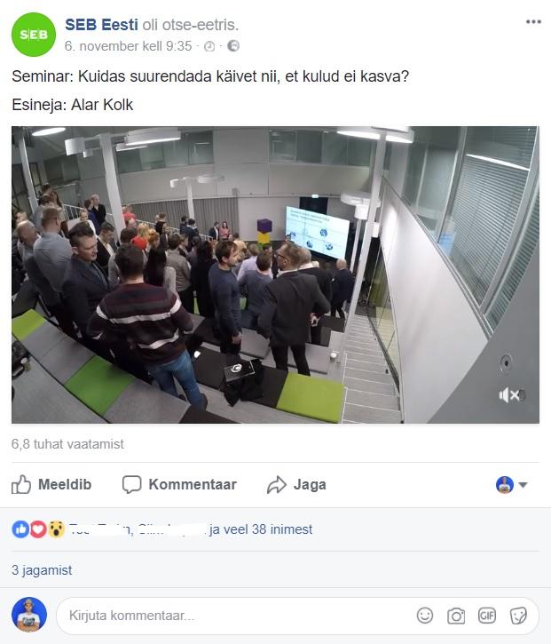 Facebooki turundus_SEB