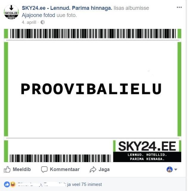 Facebooki turundus_Sky24_kalambuur