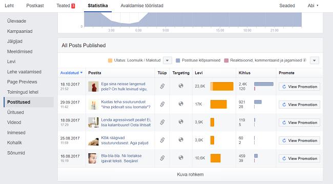 Facebooki turundus_Statistika
