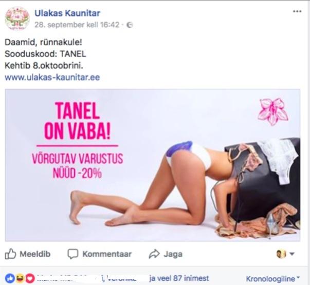 Facebooki turundus_Ulakas Kaunitar